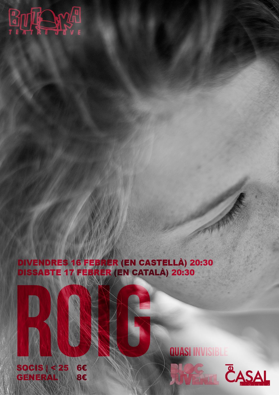 Aquest Divendres i Dissabte, Vine al Teatre amb Rojo/Roig!