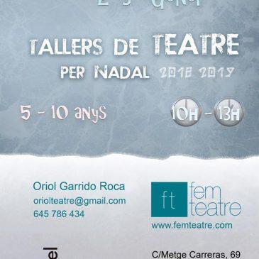 Taller de teatre per a nens – Nadal Edition!